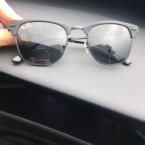 Unisex Clubmaster Metal Ray Ban Sunglasses